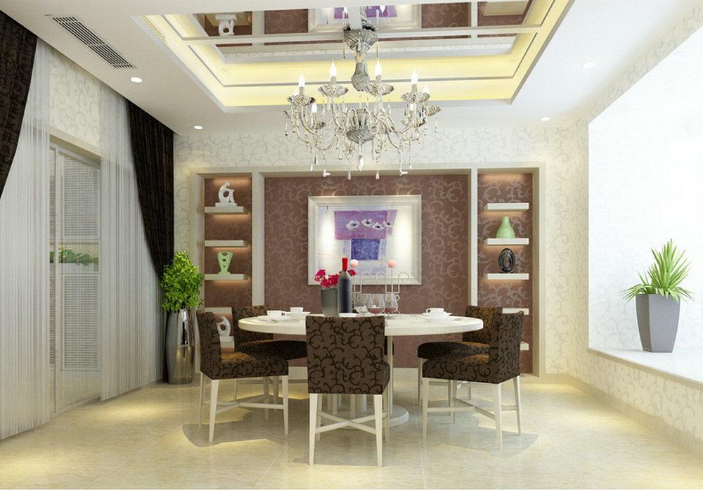 """简约 别墅 餐厅图片来自实创装饰晶晶在230平大别墅现代经典""""巴洛克""""的分享"""