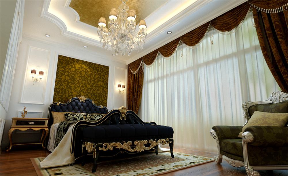 欧式 三居 白领 收纳 别墅 80后 小资 卧室图片来自实创装饰完美家装在孔雀城欧式奢华演绎大宅精彩生活的分享