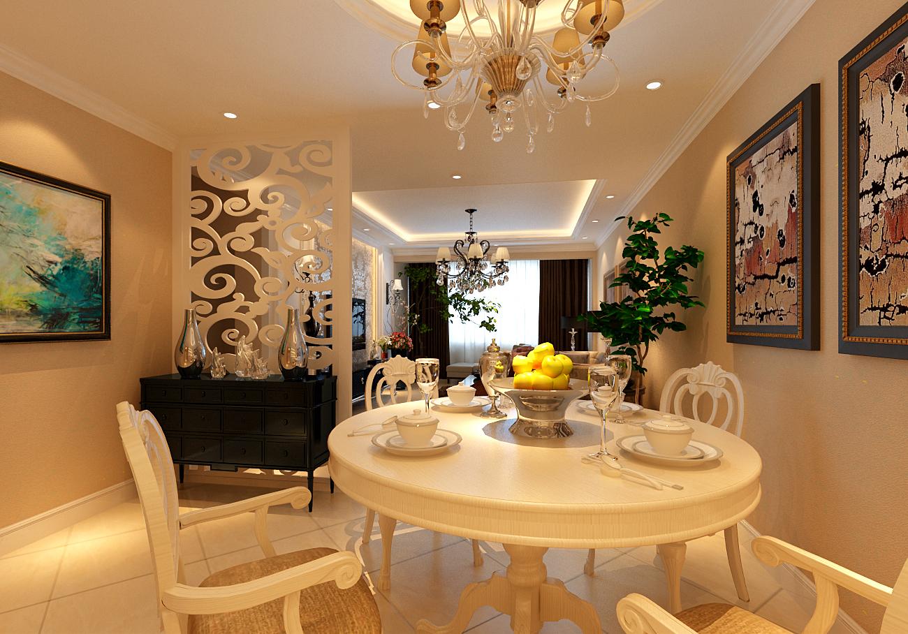简约 欧式 二居 白领 收纳 旧房改造 80后 小资 餐厅图片来自实创装饰百灵在新城国际120平米简欧风格装修的分享