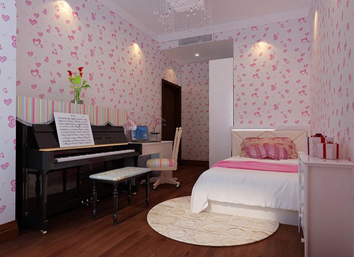 武汉实创 百步亭 新中式 三居 混搭 儿童房图片来自静夜思在百步亭一家三口的典雅新中式三居的分享