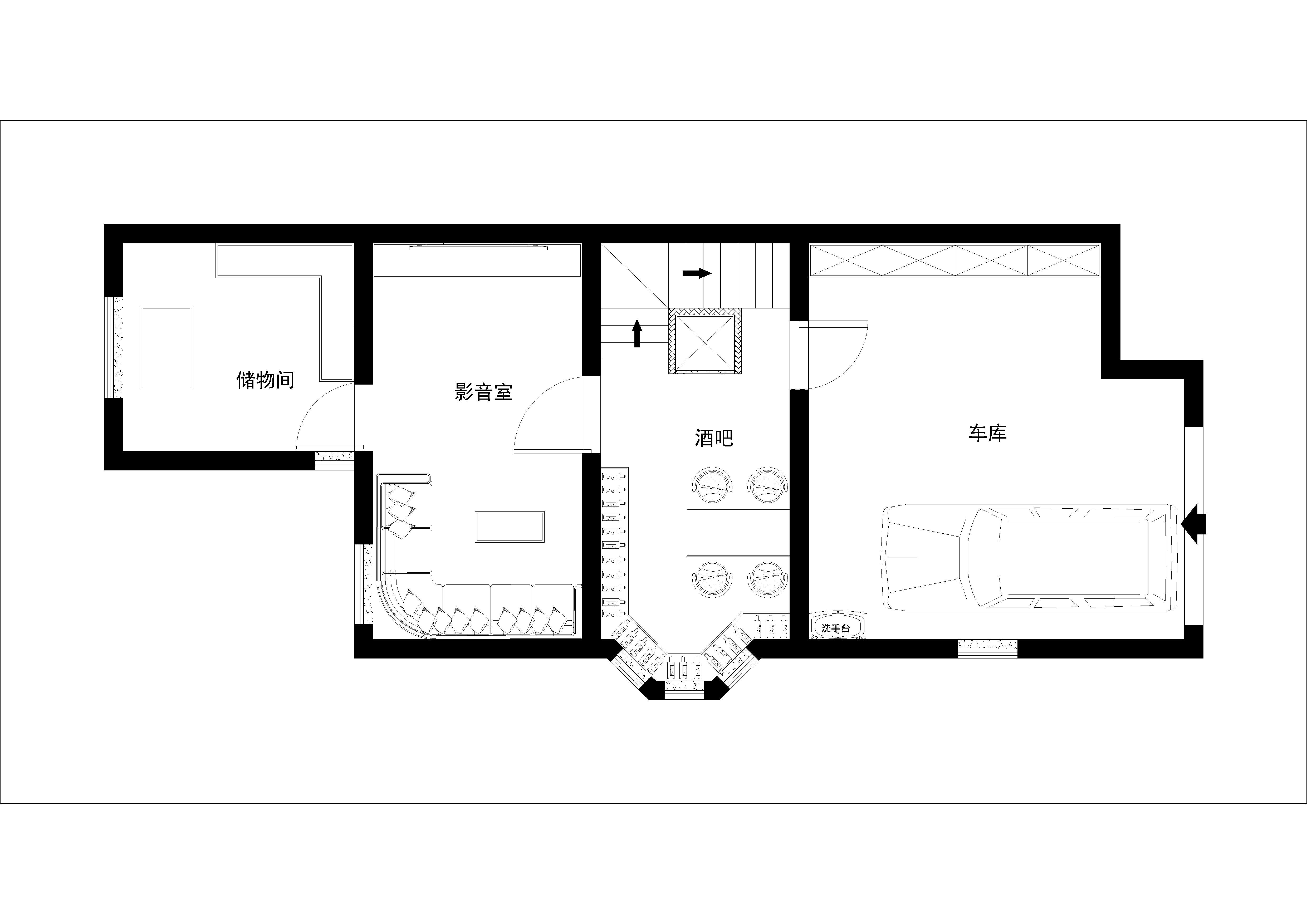 简约 欧式 别墅 收纳 白领 旧房改造 80后 小资 户型图图片来自实创装饰百灵在水色时光28万装修210平米新古典的分享