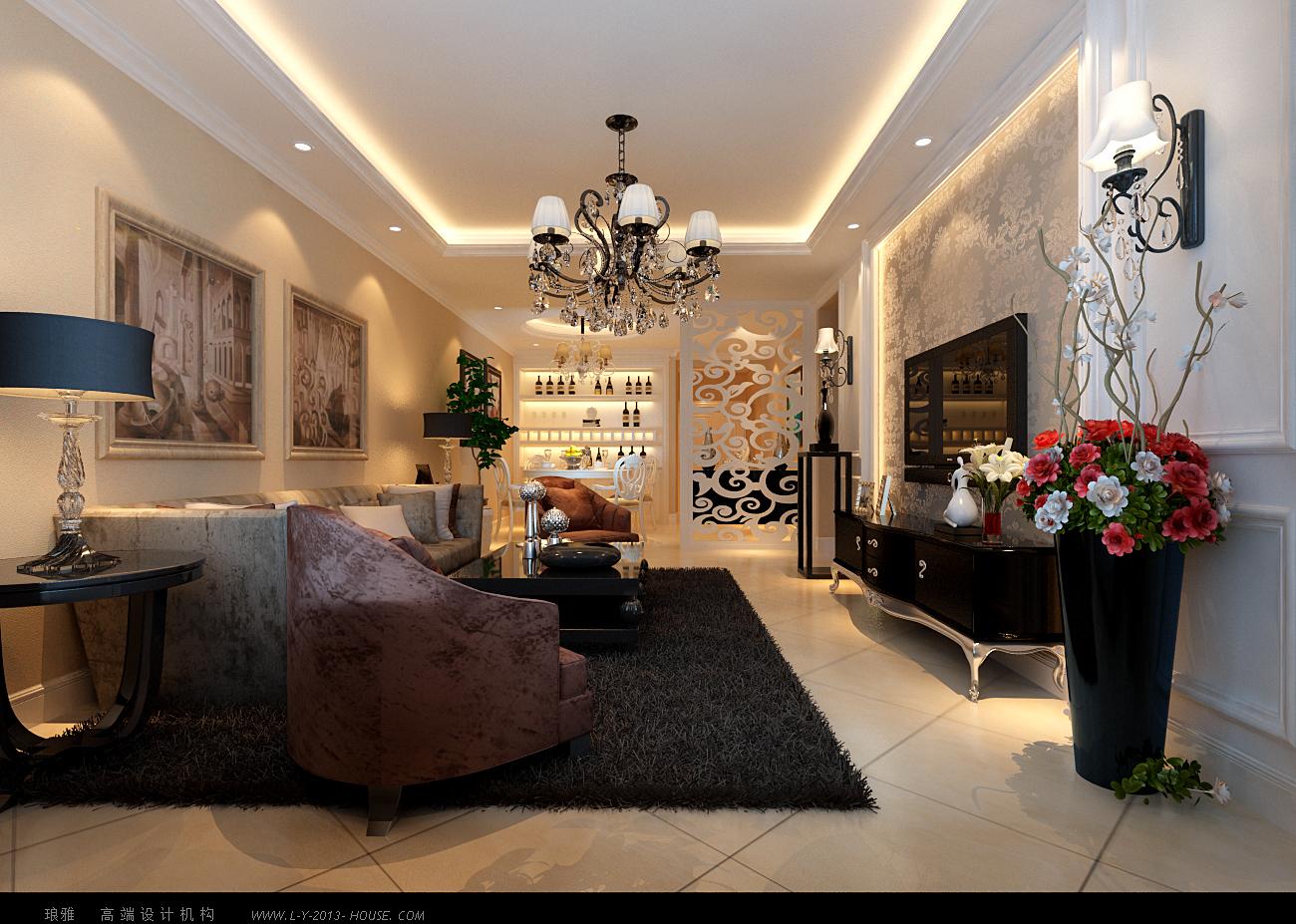 客厅图片来自xushuguang1983在新城国际120平华丽简欧三居婚房的分享