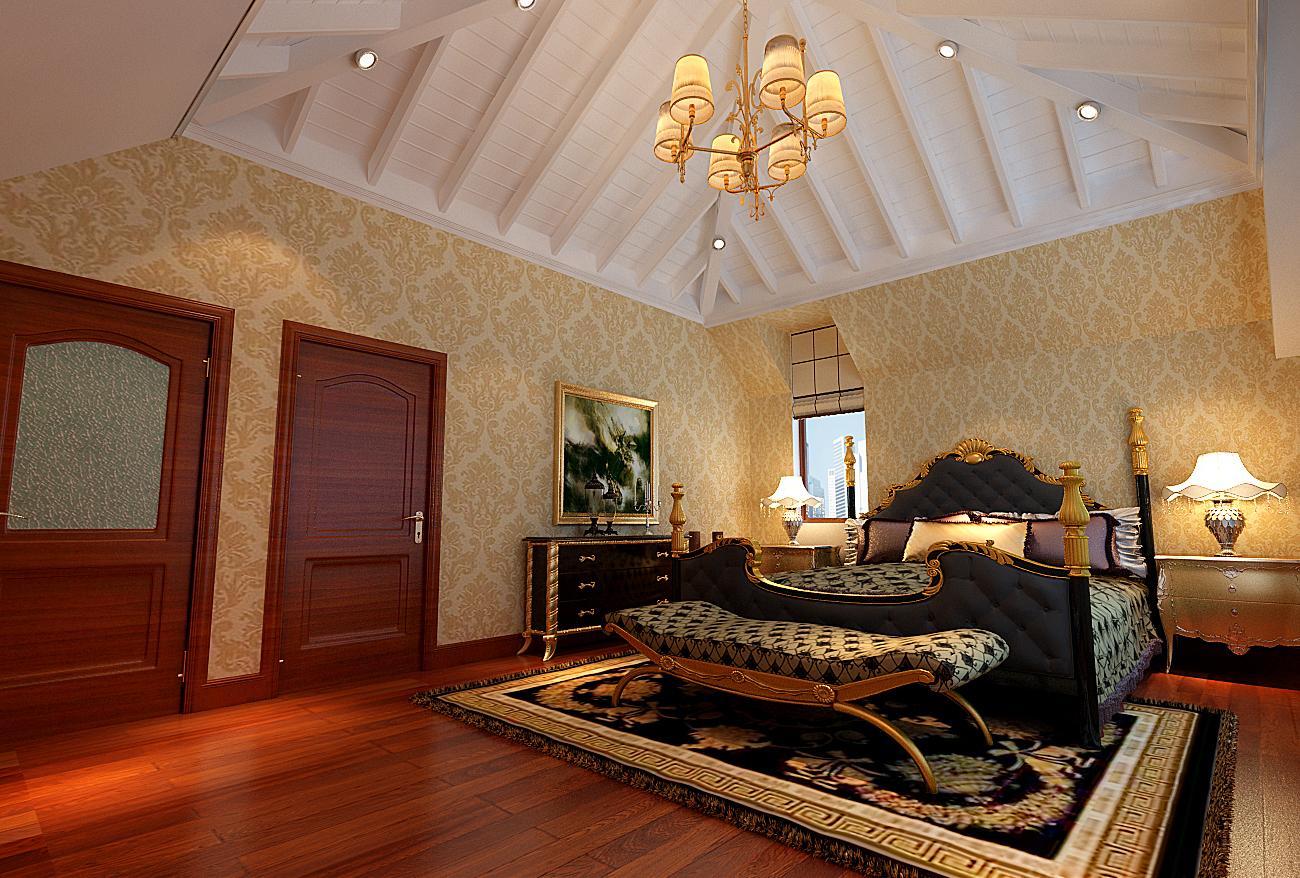 简约 欧式 别墅 白领 收纳 80后 小资 卧室图片来自实创装饰百灵在欧郡香水城装修345平米新古典的分享