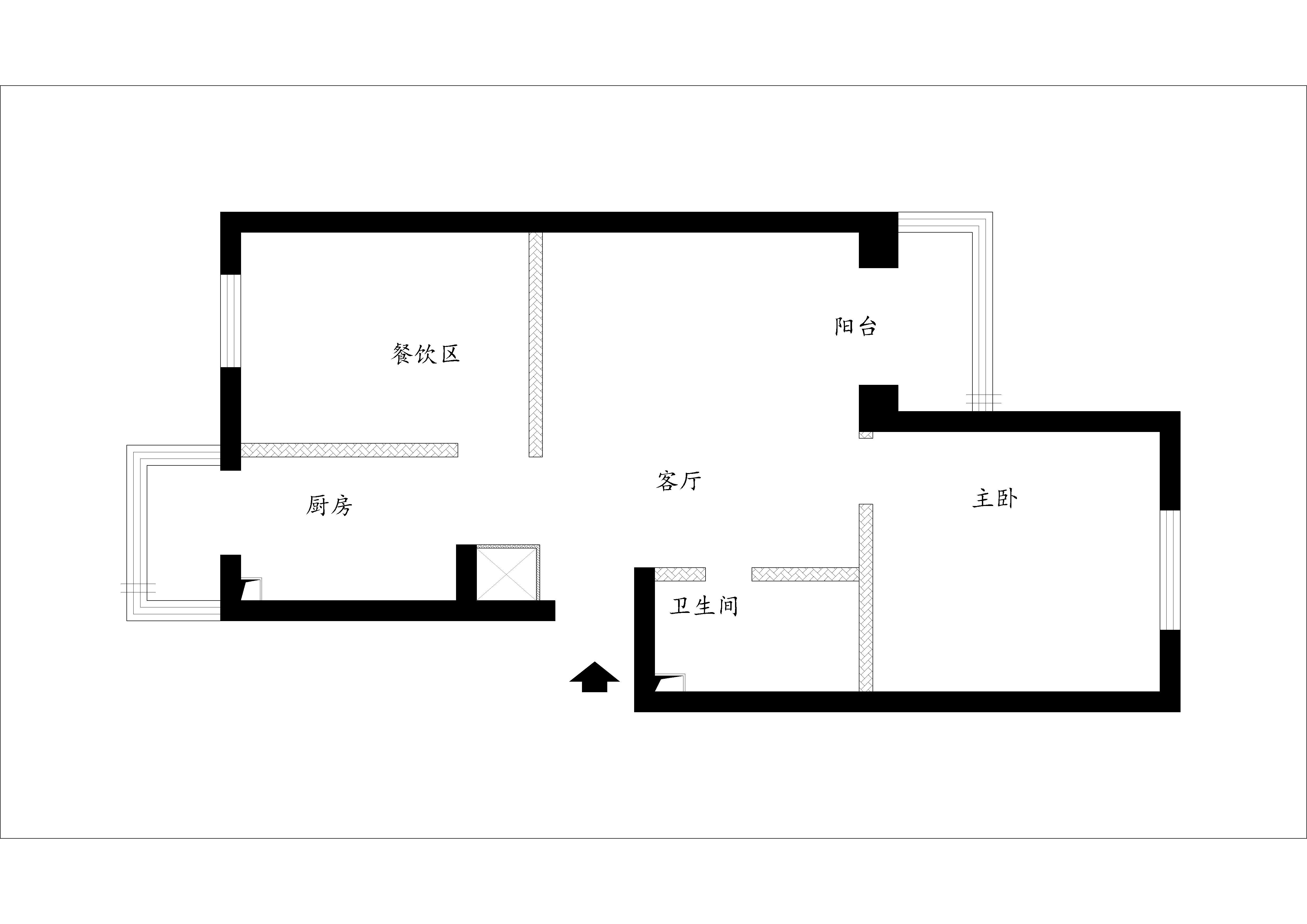 简约 二居 白领 收纳 旧房改造 80后 小资 户型图图片来自实创装饰百灵在安惠北里秀园9.8万装修88平米的分享