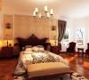 国际城四期-320平米别墅装修-卧室效果图