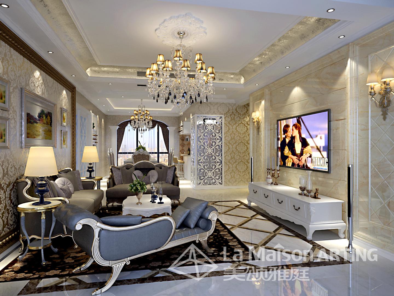 欧式 三居 刘洋设计师 锦绣长江 美颂雅庭 客厅图片来自美颂雅庭装饰在世贸锦绣长江低调奢华现代欧式的分享