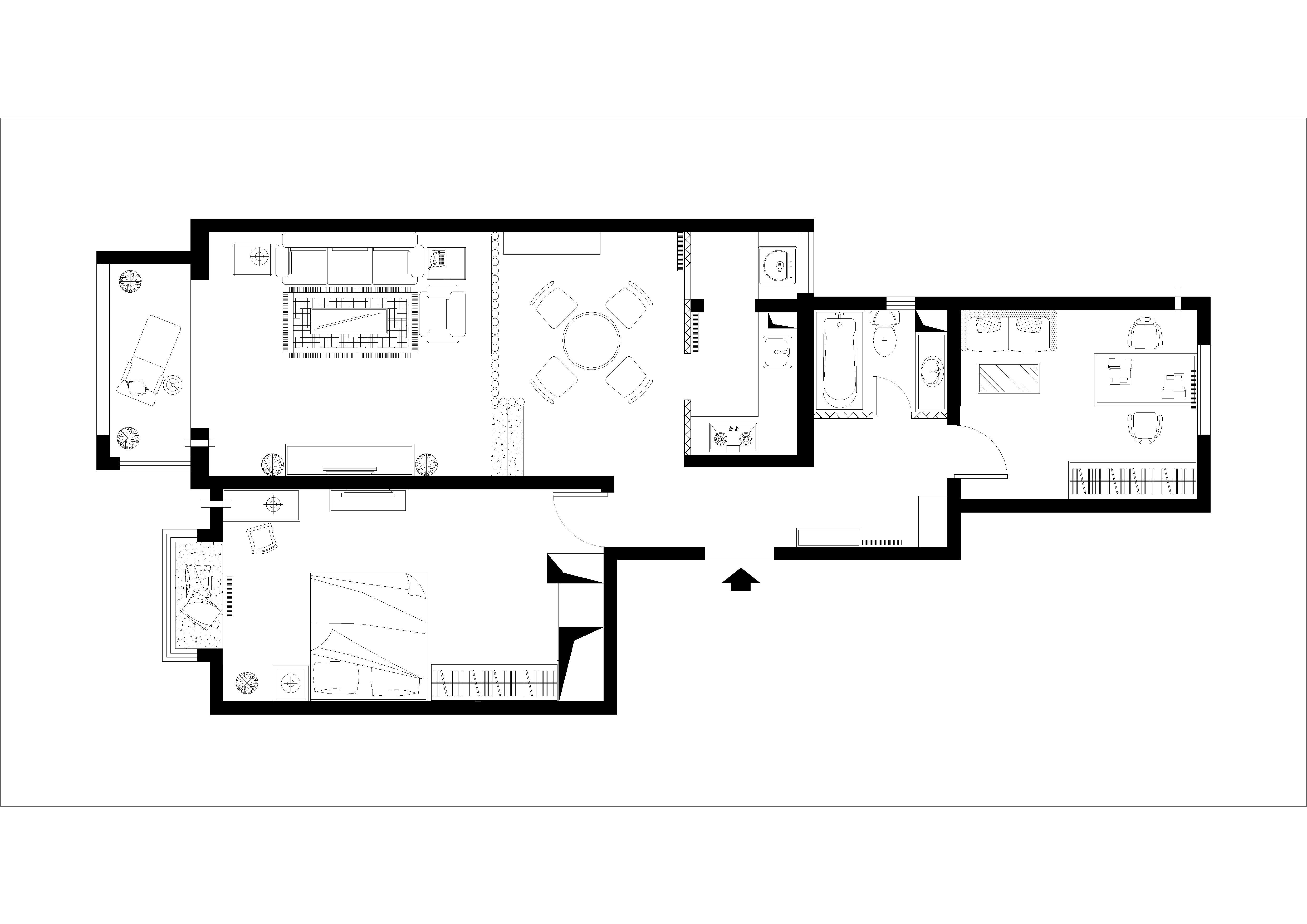简约 欧式 二居 白领 收纳 旧房改造 80后 小资 户型图图片来自实创装饰百灵在低调奢华9.6万装修银地家园欧式的分享