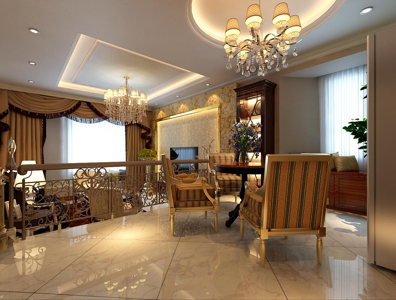 简约 欧式 别墅 收纳 白领 旧房改造 80后 小资 客厅图片来自实创装饰百灵在水色时光28万装修210平米新古典的分享
