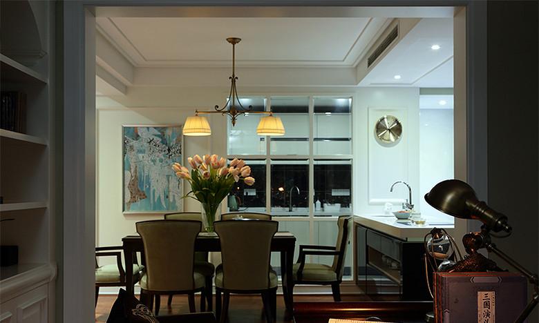餐厅图片来自家装大管家在我们的小时代 168平美式淡雅4居的分享