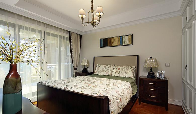 卧室图片来自家装大管家在我们的小时代 168平美式淡雅4居的分享