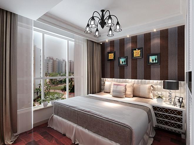 简约 二居 80后 小资 卧室图片来自上海实创-装修设计效果图在90平现代简约休闲雅居的分享