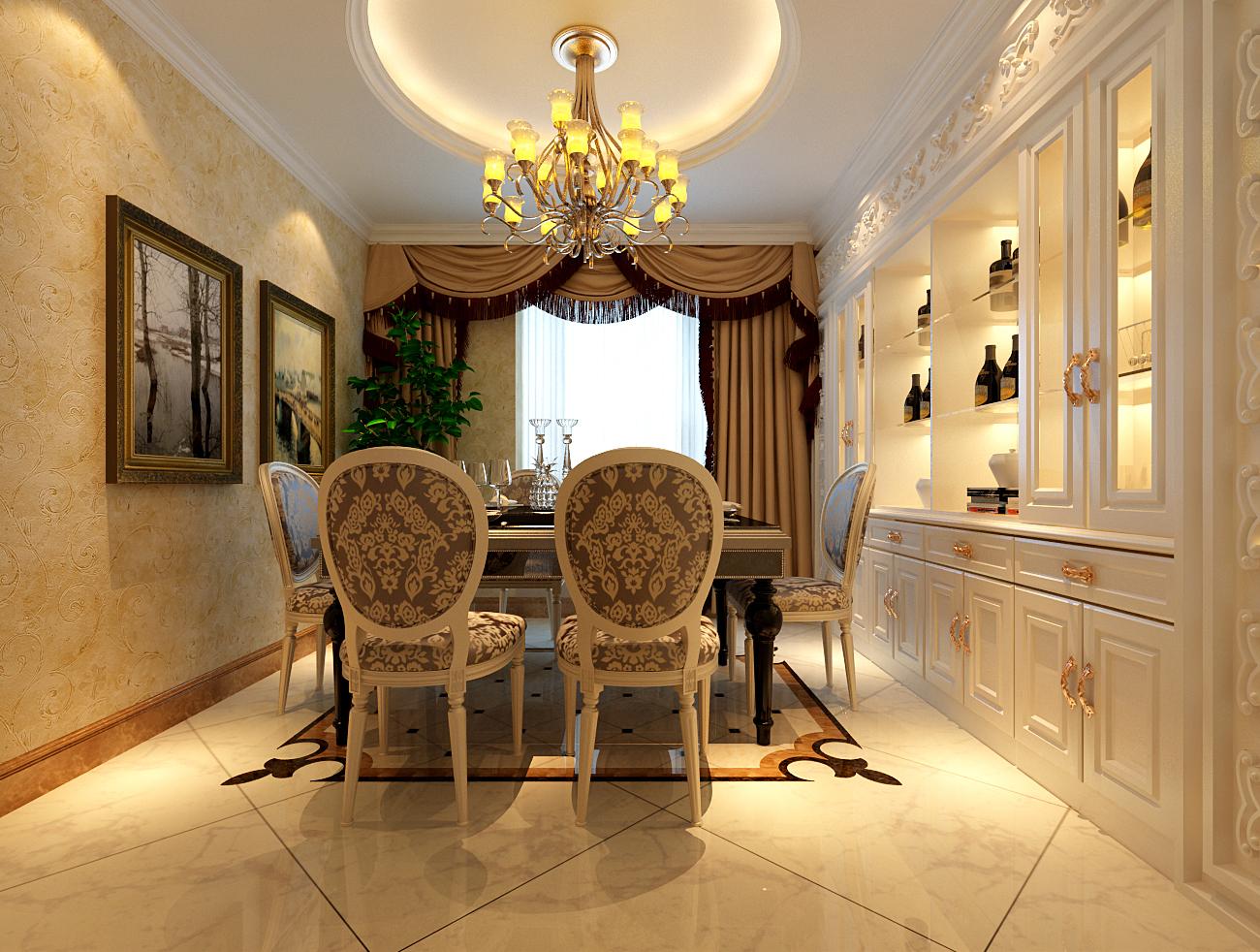 简约 欧式 别墅 收纳 白领 旧房改造 80后 小资 餐厅图片来自实创装饰百灵在水色时光28万装修210平米新古典的分享