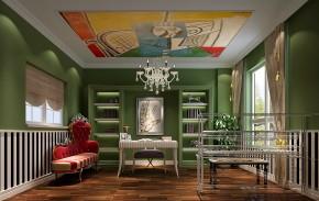 简约 三居 白领 80后 白富美 时尚 高度国际 华贸城 欧式 书房图片来自北京高度国际装饰设计在华贸城155平简约公寓的分享