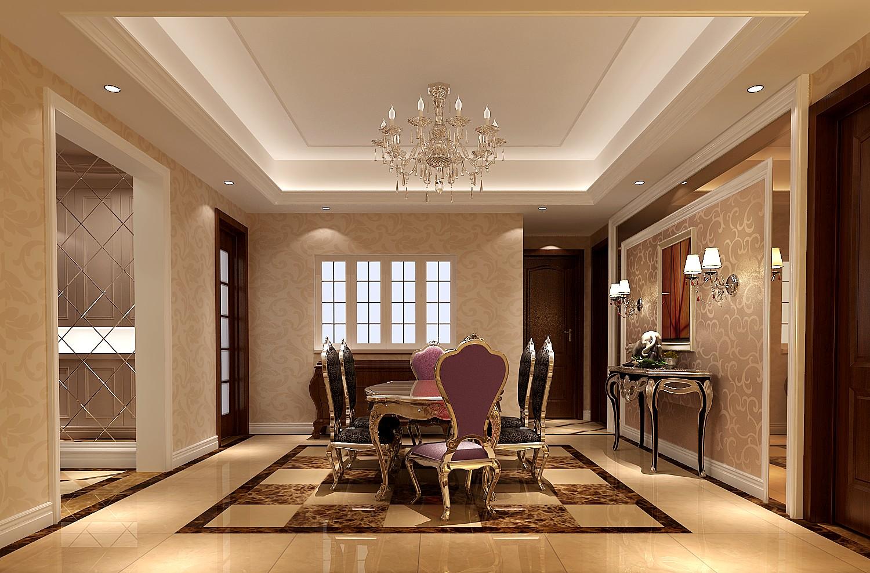 简约 三居 白领 80后 白富美 时尚 高度国际 华贸城 欧式 餐厅图片来自北京高度国际装饰设计在华贸城155平简约公寓的分享