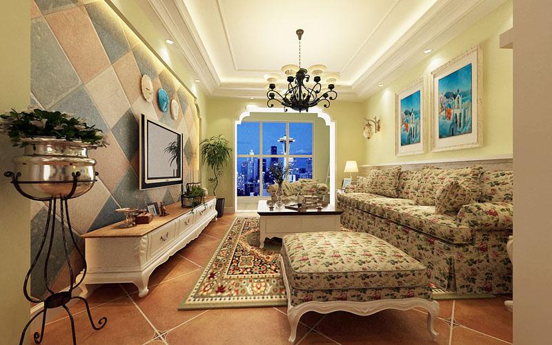 客厅图片来自多芬宝贝在丰泽新苑-美式乡村的分享