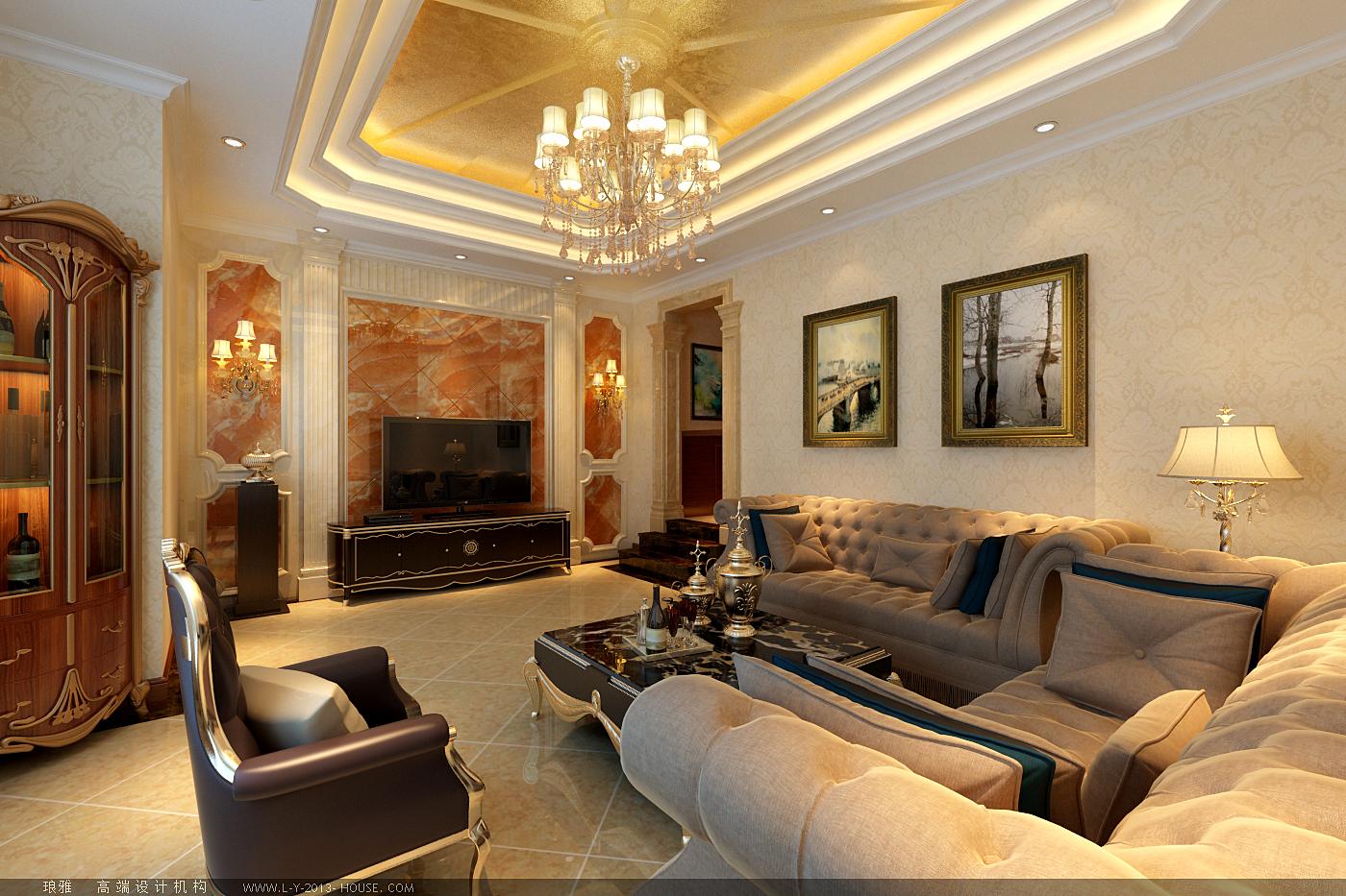 欧式 别墅 香水城 古典欧式 怀柔别墅 客厅图片来自xushuguang1983在香水城奢华345平米古典欧式别墅的分享