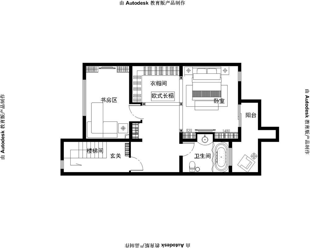 欧式 三居 白领 收纳 别墅 80后 小资 户型图图片来自实创装饰完美家装在孔雀城欧式奢华演绎大宅精彩生活的分享