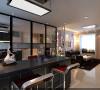 设计理念:厨房开放式,餐区又与客厅相连接,既要划分出餐厅的区域,又不能因为区域的划分而使空间割裂,失去大空间的明亮宽敞。