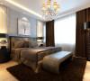 设计理念:作为婚房使用,卧室即不能走失新古典的风格,又不能脱离整体色调,同时还要有新婚的喜庆感,又不丢失古典的气息。