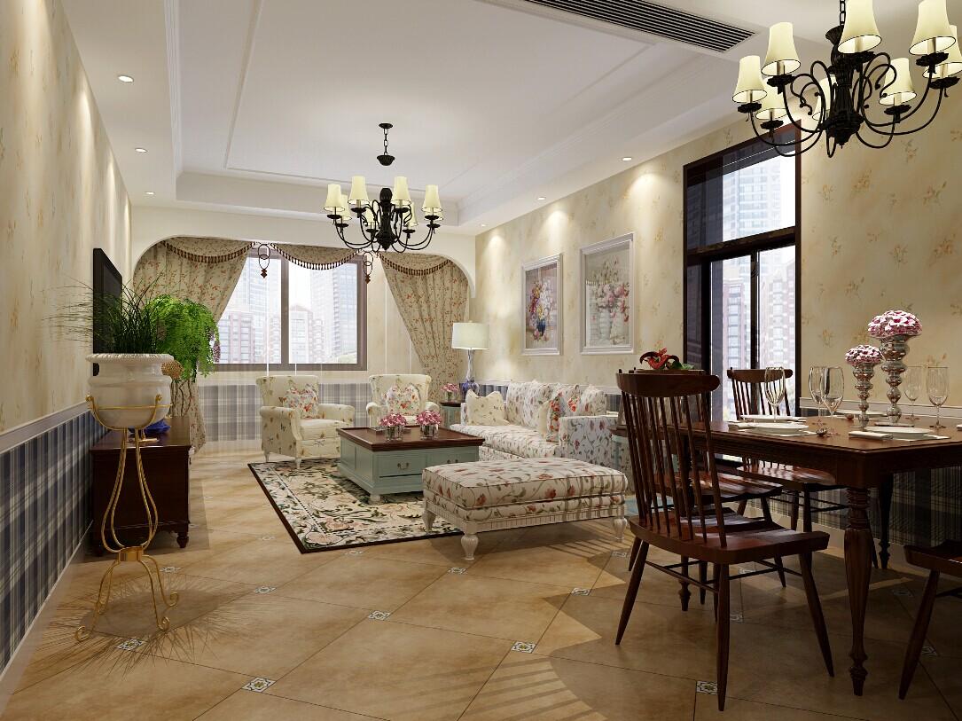 美式 田园 客厅图片来自郑州实创装饰-杨淑平在正弘蓝堡湾时尚温馨的美式田园风的分享