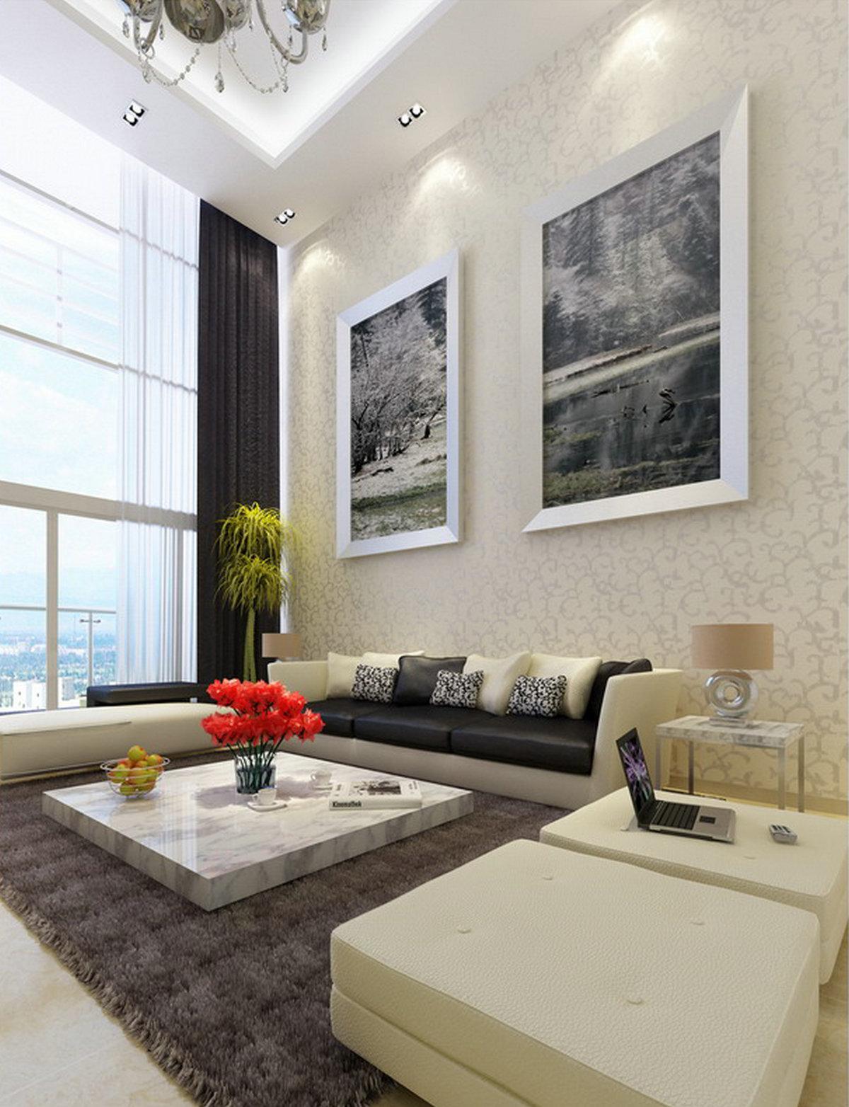 """简约 别墅 客厅图片来自实创装饰晶晶在230平大别墅现代经典""""巴洛克""""的分享"""
