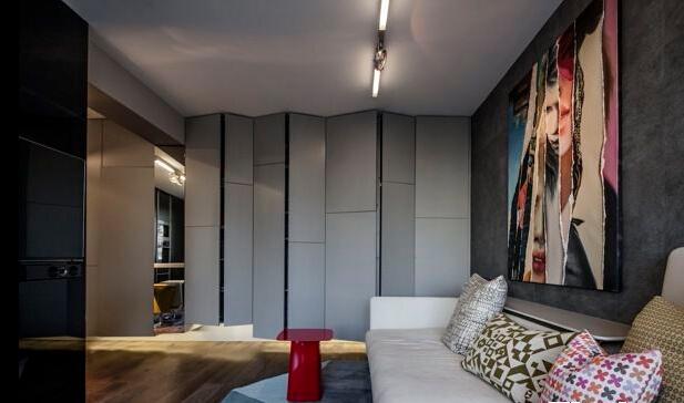 客厅图片来自佰辰生活装饰在3万打造炫酷的高富帅单身公寓的分享