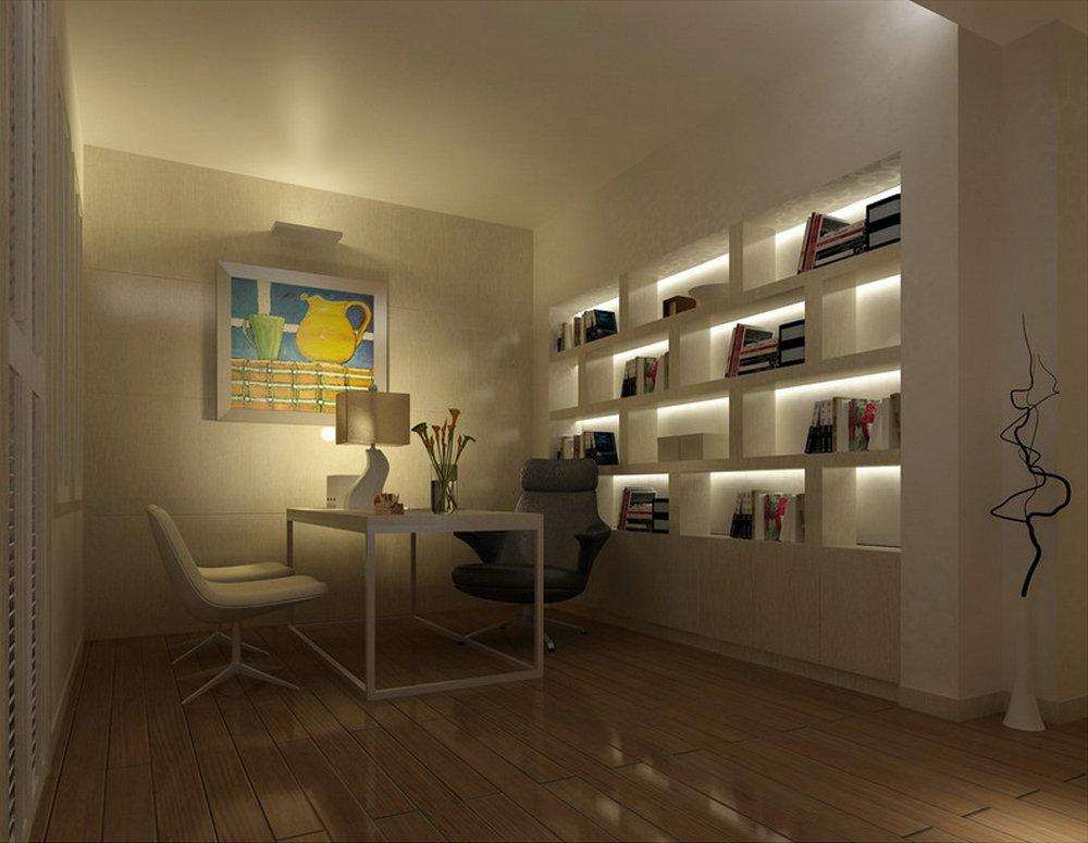 """简约 别墅 书房图片来自实创装饰晶晶在230平大别墅现代经典""""巴洛克""""的分享"""