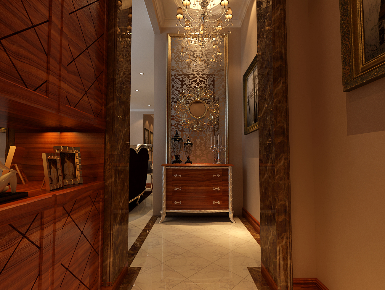 简约 欧式 别墅 收纳 白领 旧房改造 80后 小资 玄关图片来自实创装饰百灵在水色时光28万装修210平米新古典的分享