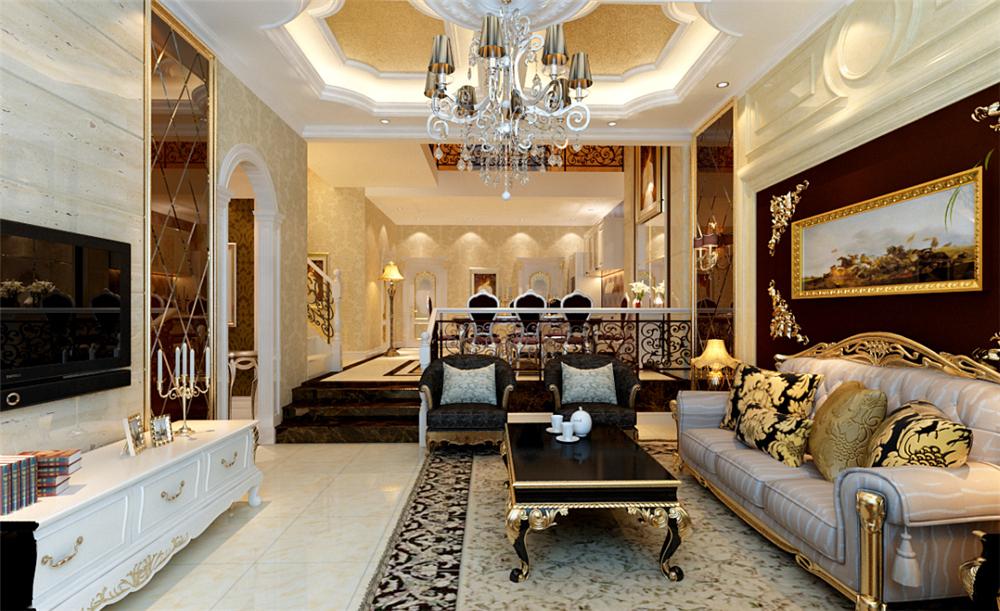 欧式 三居 白领 收纳 别墅 80后 小资 客厅图片来自实创装饰完美家装在孔雀城欧式奢华演绎大宅精彩生活的分享