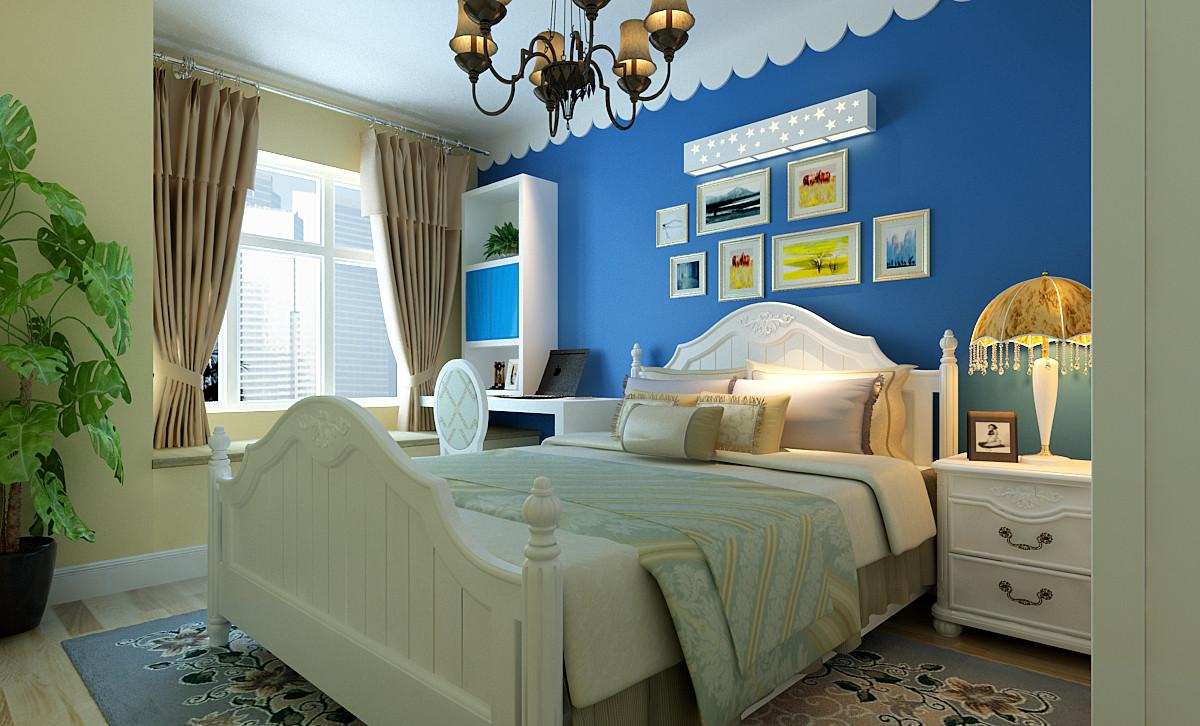 地中海风格 两居 小资 卧室图片来自实创装饰上海公司在中国蓝-蓝色经典的分享