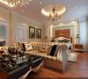 卧室依照整体风格采用新古典的风格,又不能脱离整体色调,同时还要有温馨大气的感觉。