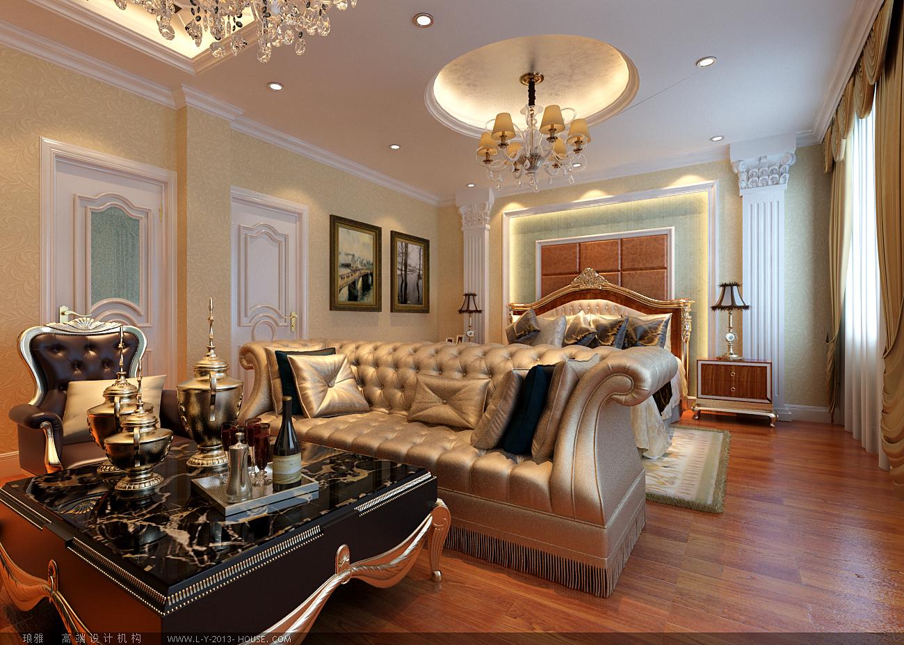卧室图片来自xushuguang1983在水色时光210平米奢华欧式别墅的分享