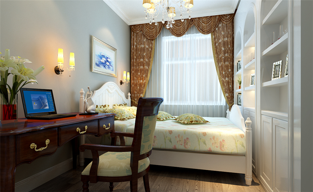 欧式 三居 白领 收纳 小资 80后 卧室图片来自实创装饰完美家装在首城汇景湾简欧风格案例赏析的分享
