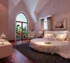 设计理念:空间整体采用粉色格调,温馨典雅体现女孩子的柔美。房间整体设计简单华丽,更能图像主人的高雅气质。 亮点:女儿房整体布局为做大的改变。依托建筑结构进行室内装潢设计