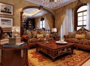武汉实创 别墅 美式 土豪 高富帅 客厅图片来自静夜思在轻松休闲奢华舒适别墅的分享