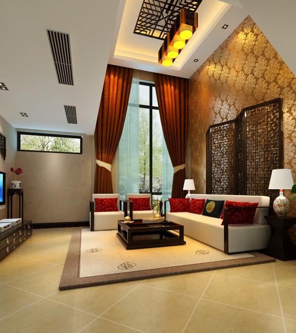 客厅是连接内外,沟通感情的主要场所,是最能体现业主生活品味和情调的地方,设计通过颜色的整体搭配和独特的造型突出了新中式的风格,轻装修重装饰的理念,更完美的突出了业主的品位。
