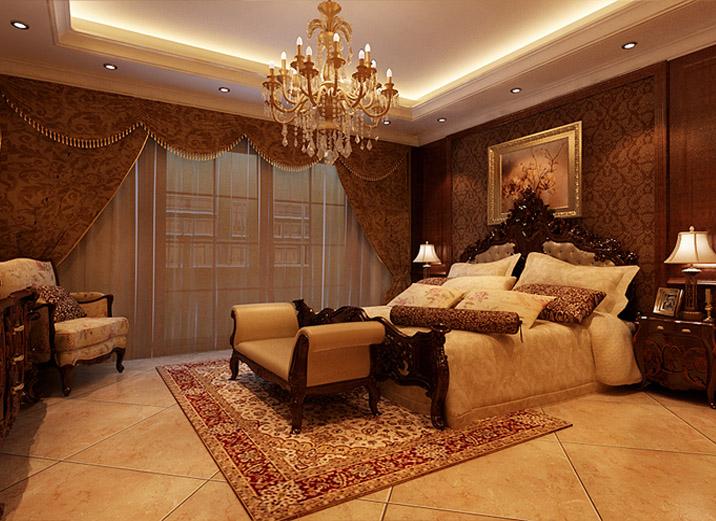 武汉实创 别墅 美式 土豪 高富帅 卧室图片来自静夜思在轻松休闲奢华舒适别墅的分享