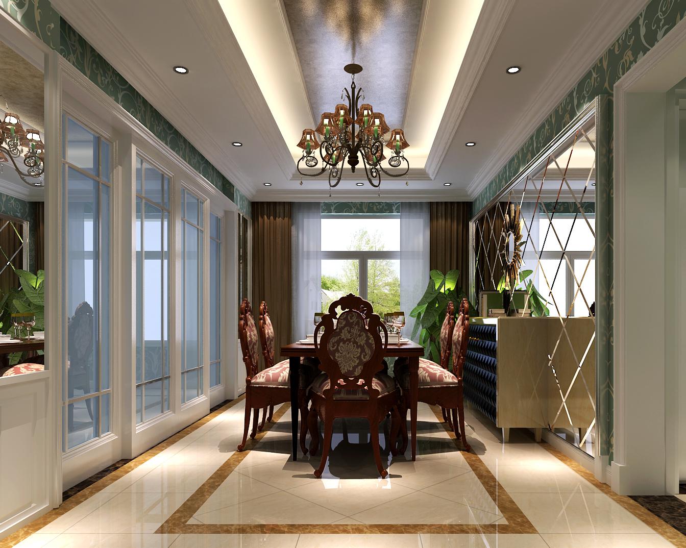 简约 欧式 三居 白领 80后 远洋东方 高度国际 时尚 白富美 餐厅图片来自北京高度国际装饰设计在远洋东方公馆140平简欧公寓的分享