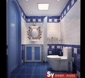 地中海风情 小户型 思雨易居 新房装修 文艺青年 卫生间图片来自思雨易居设计在30平米小户型玩转地中海风格的分享