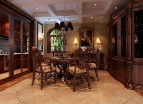 武汉实创 别墅 美式 土豪 高富帅 餐厅图片来自静夜思在轻松休闲奢华舒适别墅的分享