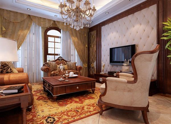 设计理念:客厅可以说是在家装里面非常受到重视的部分,因为它面积最大、公用程度最高、最能凸显一个家庭的审美品味及个性特征。作为一个极具代表性的区域,如何利用陈设创造出令人满意的环境就显得尤为重要。