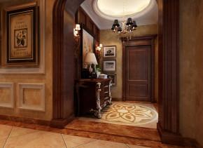 武汉实创 别墅 美式 土豪 高富帅 玄关图片来自静夜思在轻松休闲奢华舒适别墅的分享