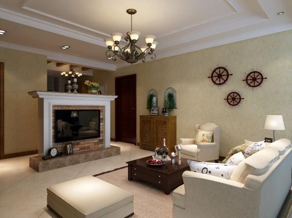 客厅进深较短,同时受卧室门的限制,不能拥有完整的背景墙,结合房屋整体风格定位与业主的生活品味,将壁炉引进室内,加以简化改造,一个精致完美的电视背景诞生了!