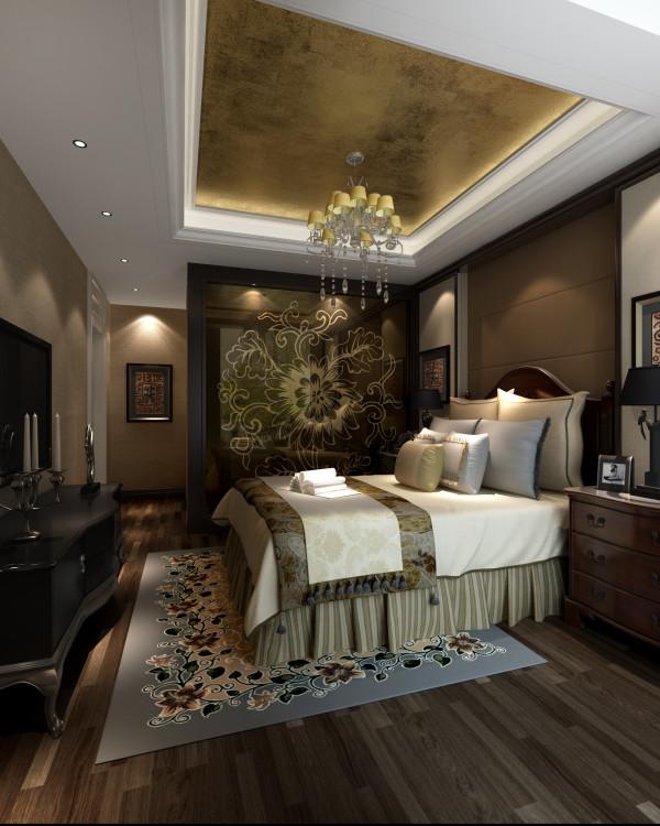 卧室的突出亮点是,卫生间的一面墙采用了艺术玻璃,既体现了设计也比较新颖,顶面的吊顶采用了壁纸,整体不失温馨效果