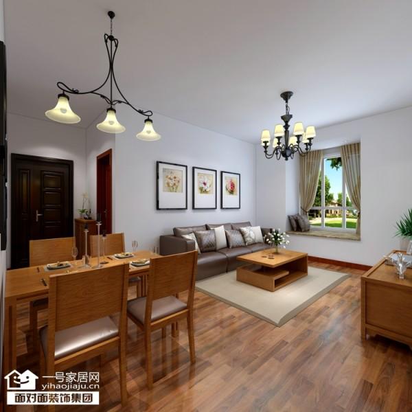 整体都是以实木家具、木地板为主。既环保又简单。