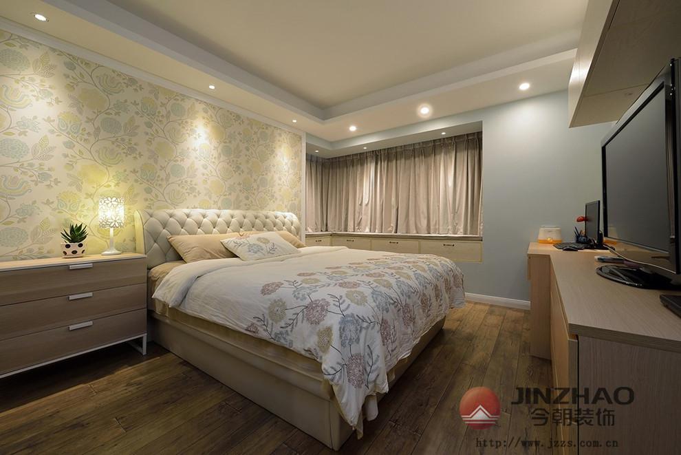 现代简约 新房装修 旧房改造 小清新 今朝装饰 卧室图片来自周海真在135㎡三房改四房  裸色小清新的分享
