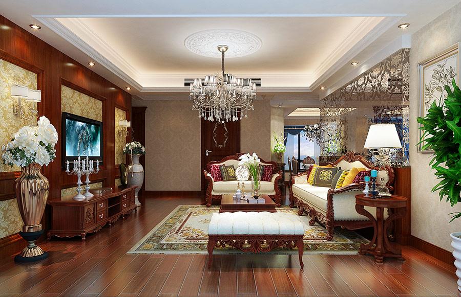 美式 80后 小资 客厅图片来自武汉东易日盛在南湖玫瑰湾--新古典--的分享