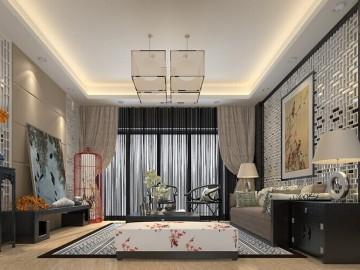 60平新中式两室装修小空间大制作