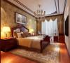 设计理念:卧室在色彩方面秉承了传统古代风格的典雅和华贵,但与之不同的是加入了很多现代元素呈现着时尚的特征。