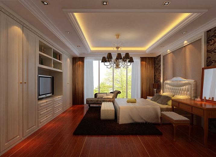 卧室图片来自天津实创装修_装饰在26.7w打造215平王府壹号古典韵味的分享
